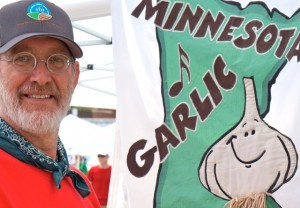 Jerry with Garlic Fest Logo