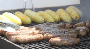 Garlic Brats & Sweetcorn low