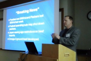Dr. Allen Williams of Grass Fed Beef, LLC, spoke during the Advanced Grazing Workshop on Feb. 15, 2013, at the SFA Annual Conference in Chaska, Minn.