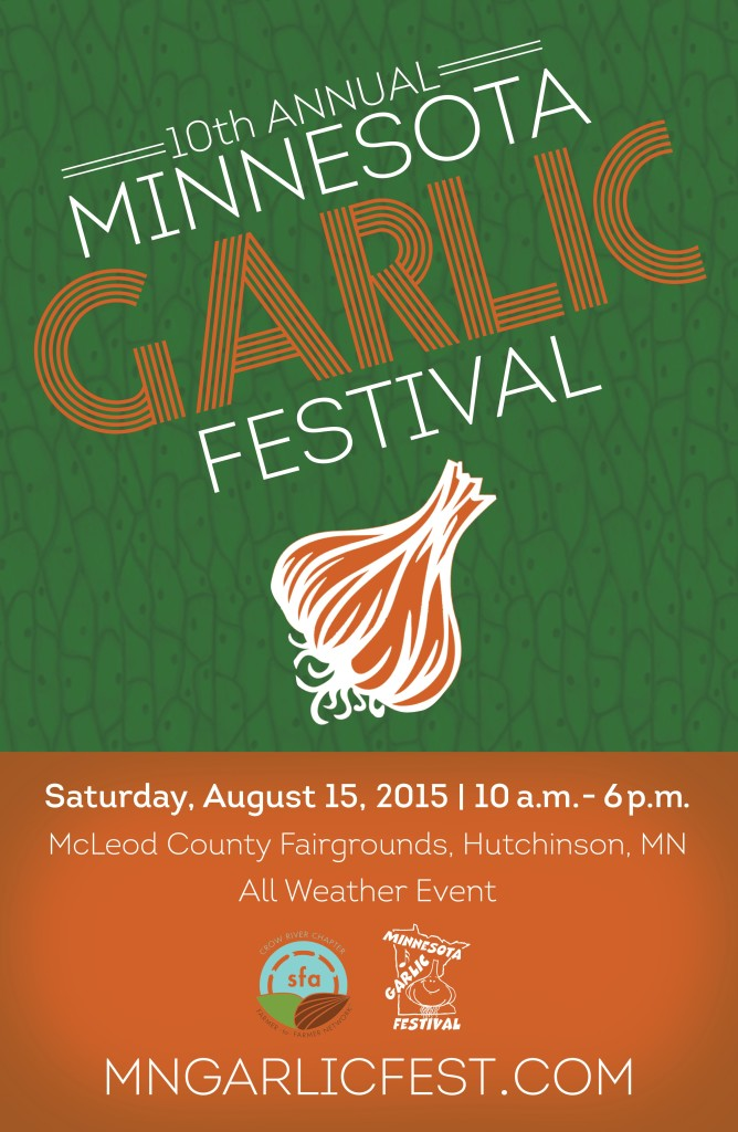 10th Annual Garlic Fest Poster – Sustainable Farming Association ...