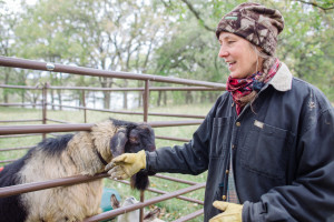 Deep Roots becca Sue with goat
