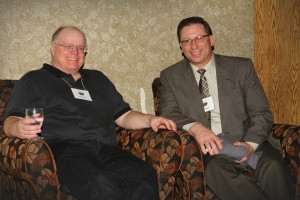 Executive Director John Mesko with North Dakota Soil Practitioner Gabe Brown at the 2014 Midwest Soil Health Summit