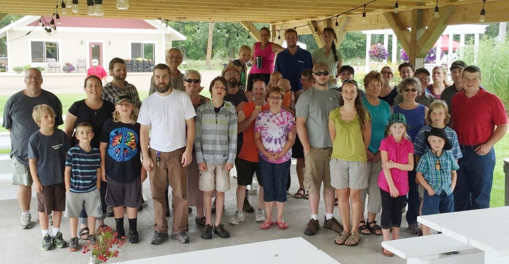The Greater Mille Lacs Chapter members gather at Gilby's Orchard in Aitkin, Minn.