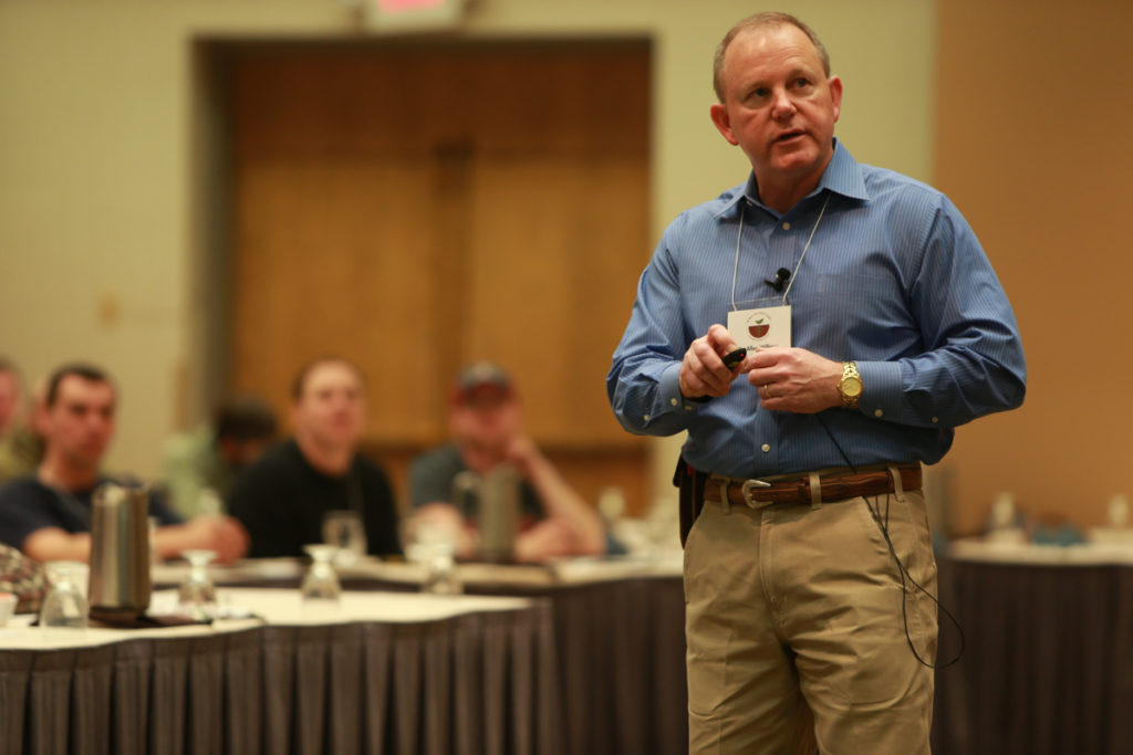 Dr. Allen Williams, shown during the 2016 SFA Midwest Soil Health Summit, will lead a two-day grazing workshop on May 26-27 in Wolf Lake and Menagha, Minn.