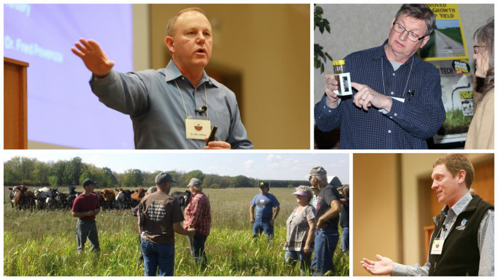 "Dr. Allen Williams (above left), Ag Resource Consulting's Glen Borgerding (above right), and farmer Grant Breitkreutz (lower right) are among the presenters at SFA's ""Dirt Rich: Building Soil Health Experts"" event set for Aug. 16-17 in Redwood Falls and Marshall, Minn."