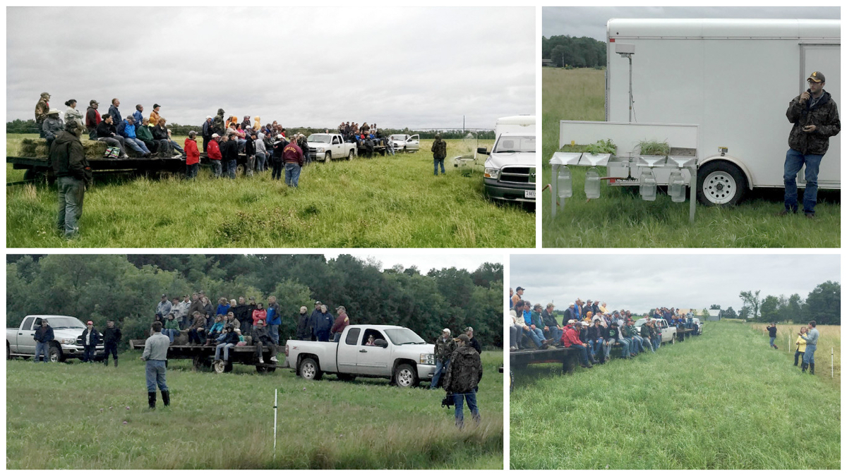 Scenes from the July 14 Crow Wing River Basin Forage Council Summer Tour, held at Ivan and Dayle Reinke's Cloverleaf Grass Farm in Wadena.