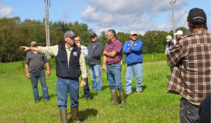 SFA Livestock & Grazing Specialist Kent Solberg spoke during the Soil Health Network event that Carlton County Extension hosted, the Northeast Minnesota Forage and Grassland Council summer tour, on Sept. 8 at the Bob Durovec farm in Meadowlands, Minn.