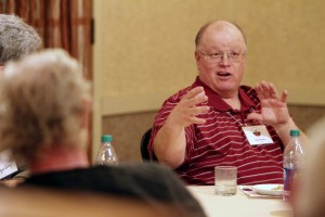 Gabe Brown chats during the 'Gab With Gabe' session at the 2014 MSHS.